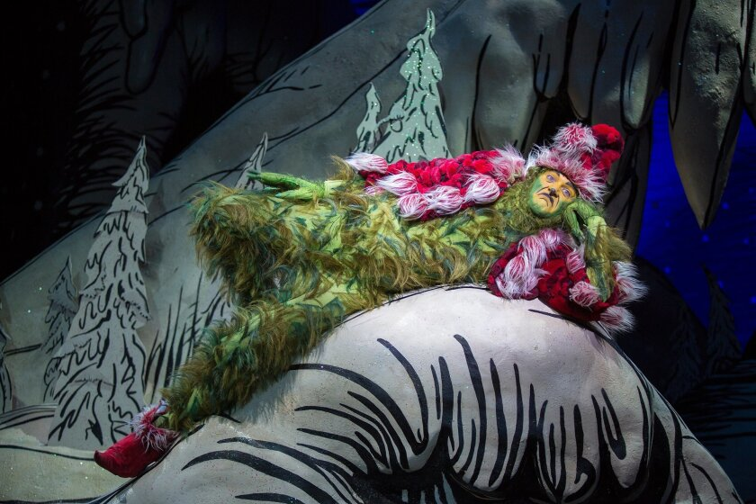 "Edward Watts in The Old Globe's ""Dr. Seuss's How the Grinch Stole Christmas!"""