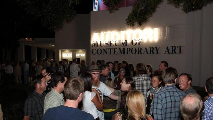 The Sherwood Auditorium at the La Jolla Contemporary Art Museum is the new venue for the San Diego Surf Film Festival. (Pierce Michael Kavanagh)