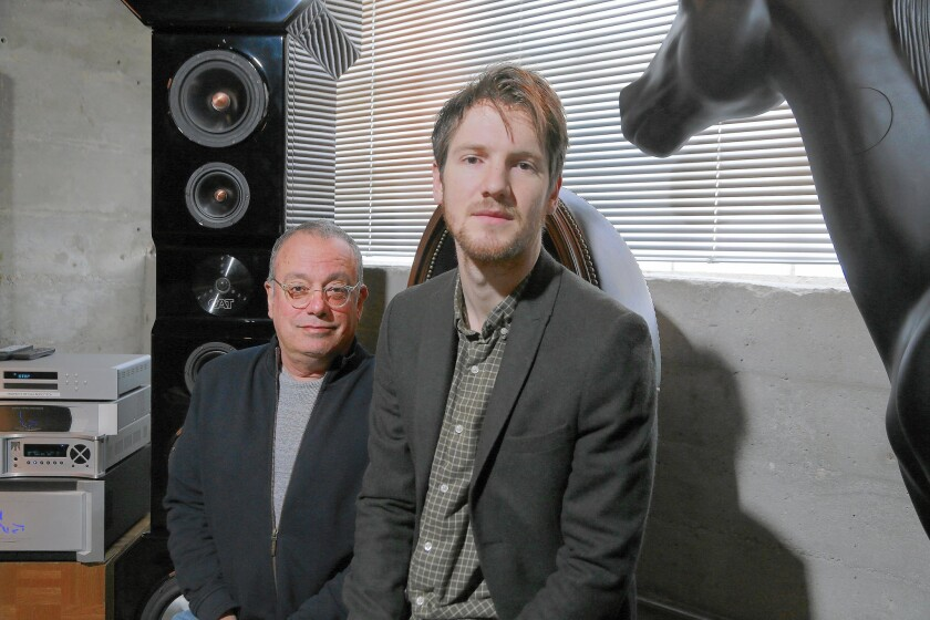 Larry Klein, left, and Blake Mills are both nominated for a Grammy Award as producer of the year.
