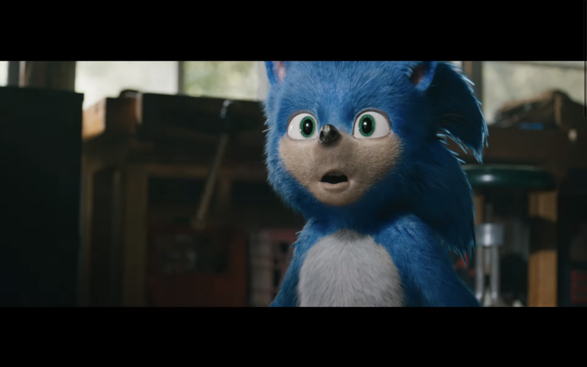 """A scene from """"Sonic the Hedgehog"""" trailer."""