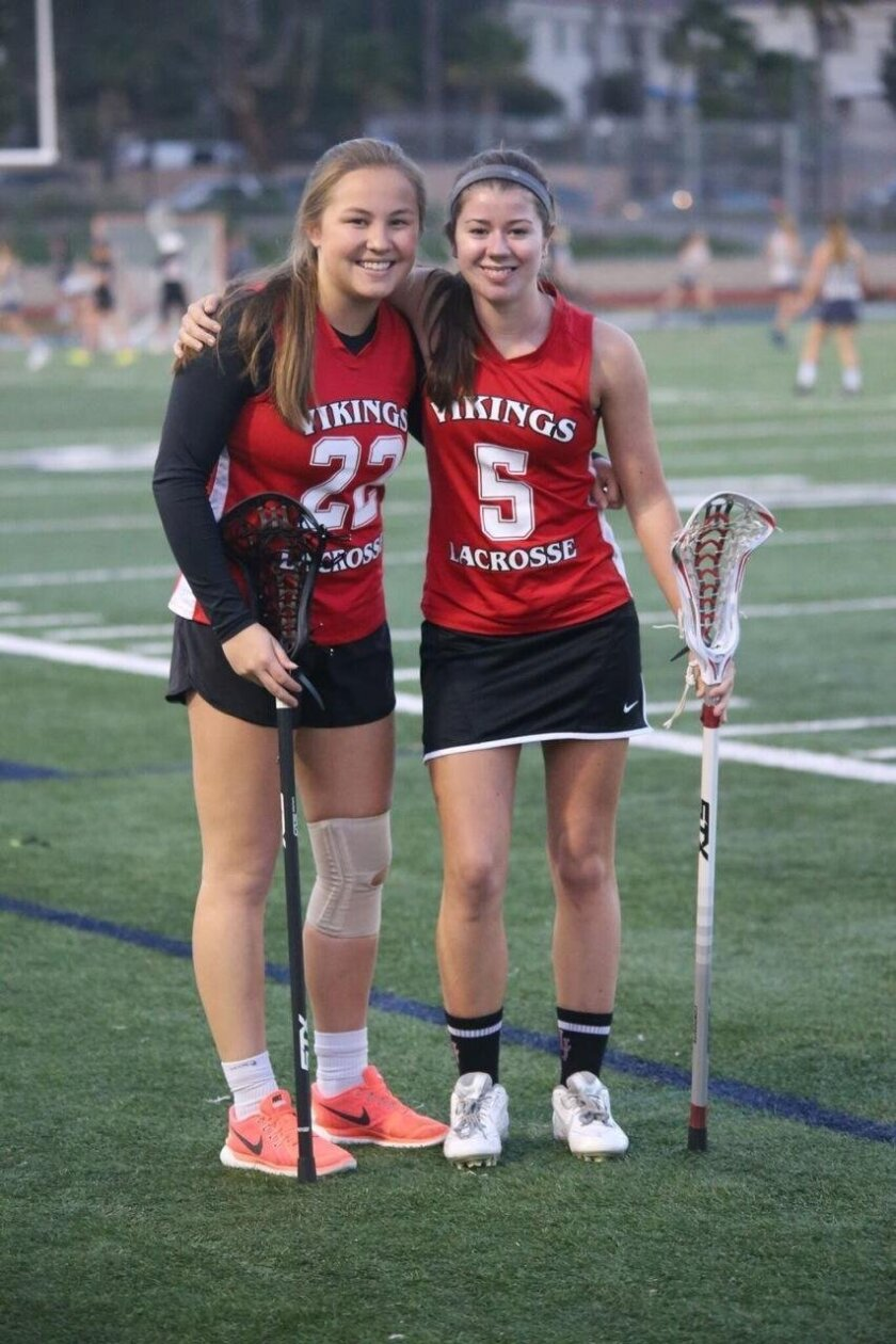 Varsity captains senior Helen Lee and junior Fifi Thrift