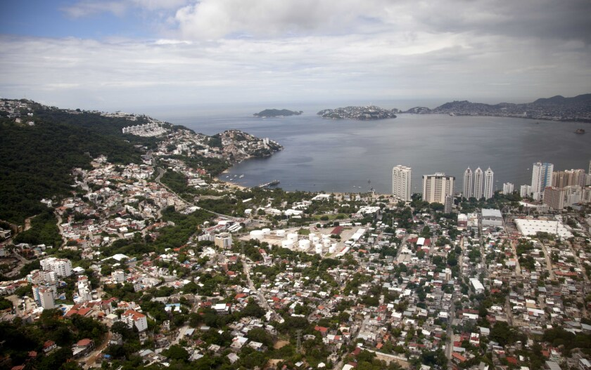 An aerial view of the Pacific resort city of Acapulco in 2013