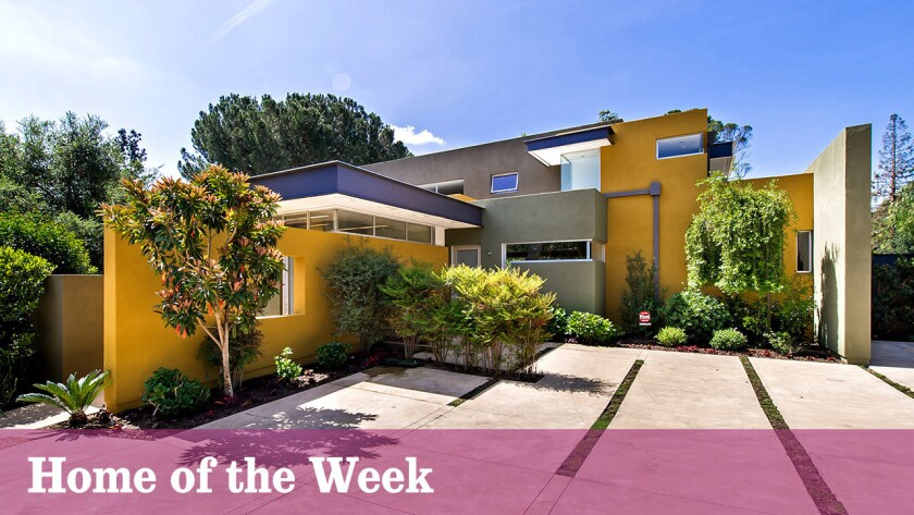The three-level contemporary at 370 Glen Summer Road, Pasadena, is listed for sale at $5.28 million.