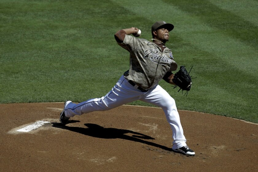 Padres starting pitcher Edinson Volquez.