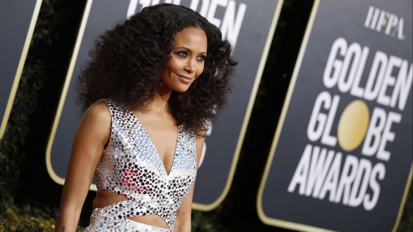 BEVERLY HILLS, CA-JANUARY 06: Thandie Newton arriving at the 76th Golden Globes at the Beverly Hi