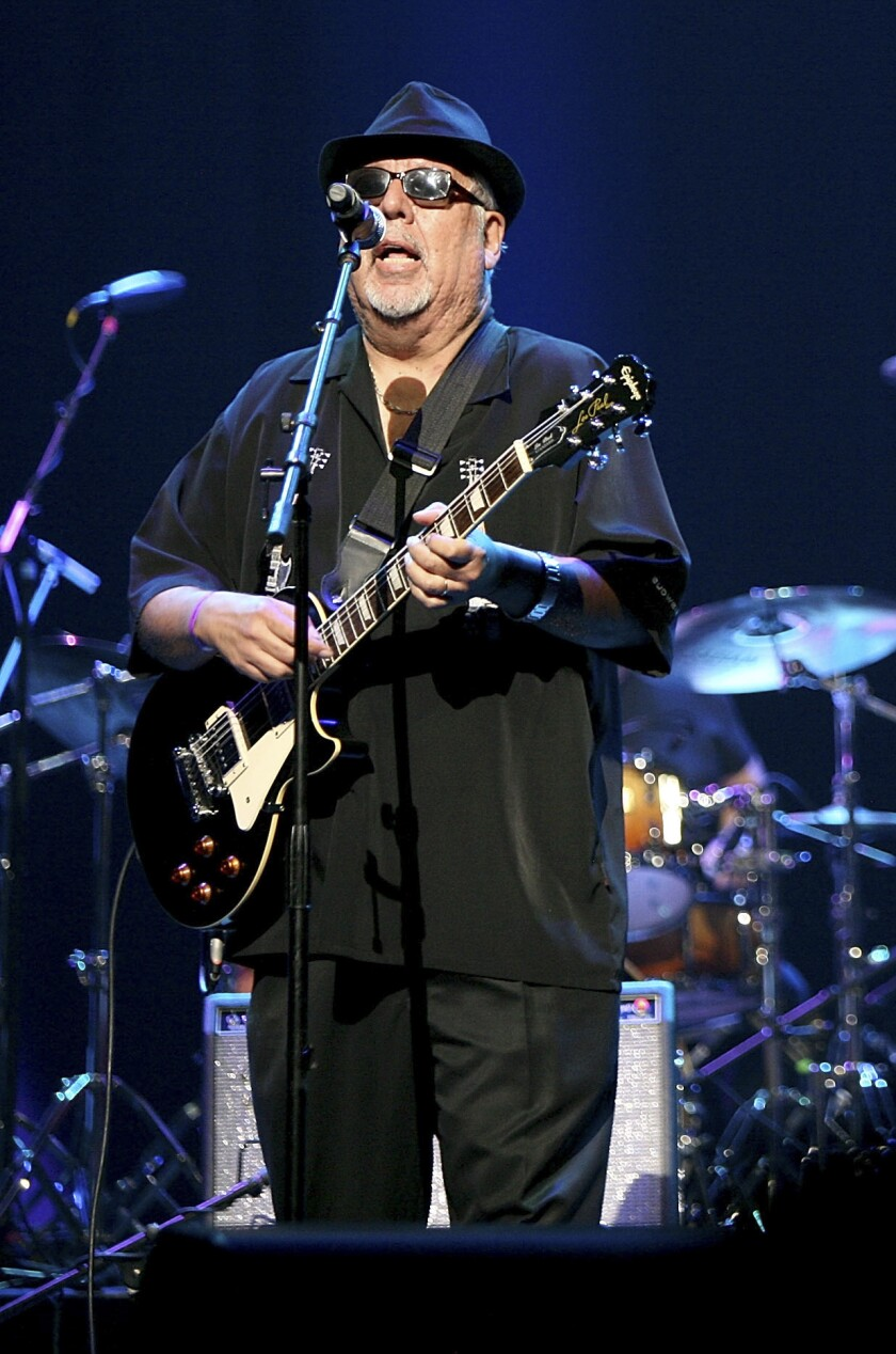 Rudy Salas and his band Tierra perform at the Music 4 the Soul Benefit Concert at Nokia Theatre L.A. Live on Oct. 25, 2013