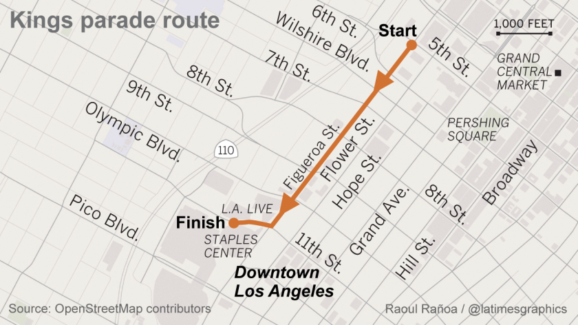 L.A. Kings parade route