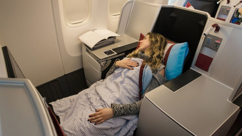 Sorry, no free upgrades to business class are available. Not even if it's your birthday.