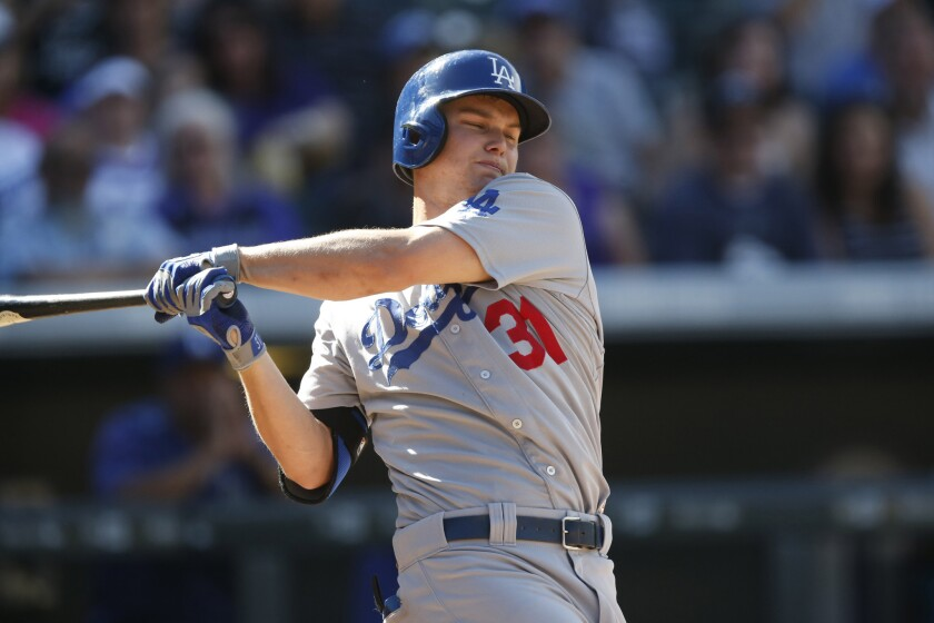 Joc Pederson will play at designated hitter for the Dodgers in Game 3 against the Padres.