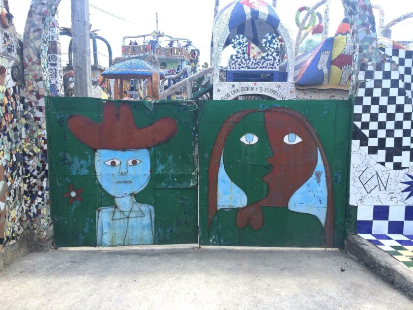 Some of Cuban artist José Rodríguez Fuster work, which decorates the fishing town of Jaimanitas.