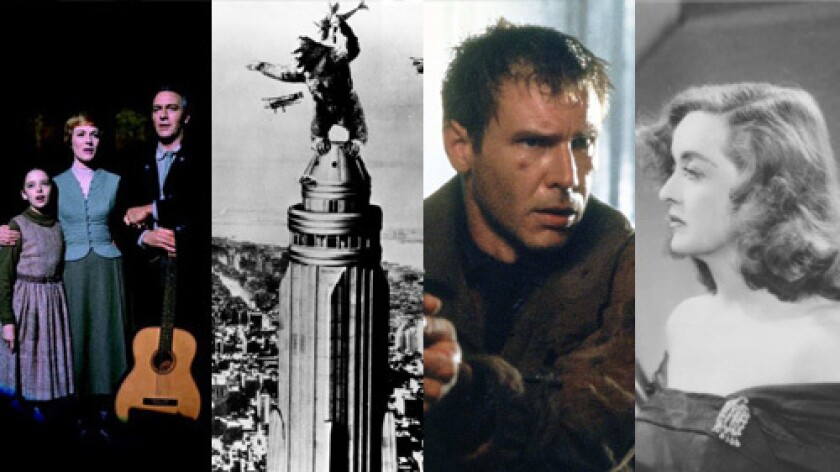 "CLASSIC OBSERVATIONS:Among the films discussed in ""Warning Shadows"" are, left to right, ""The Sound of Music,"" ""King Kong,"" ""All About Eve"" and ""Blade Runner."""