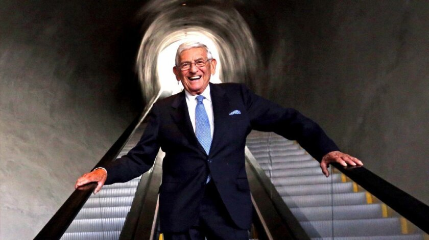 Eli Broad inside his new, Grand Ave. museum on August 17, 2015. The Broad is on track to hit 200,000 visitors by the end of 2015.
