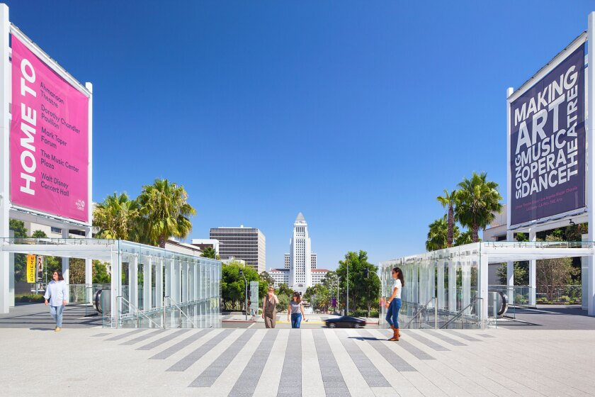 Music Center plaza redesign by Rios Clementi Hale Studios