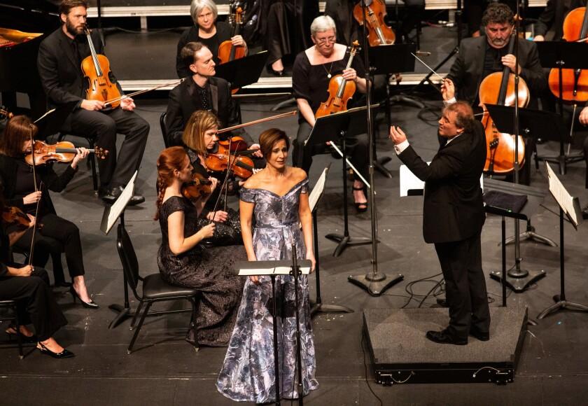 LOS ANGELES, CA-APRIL 28, 2019: Spanish conductor Jaime Martín performs Bryce Dessner Voy a Dormir: