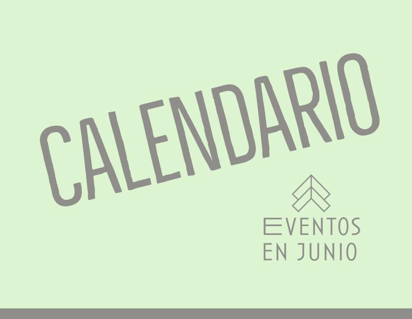 Calendario de eventos en junio