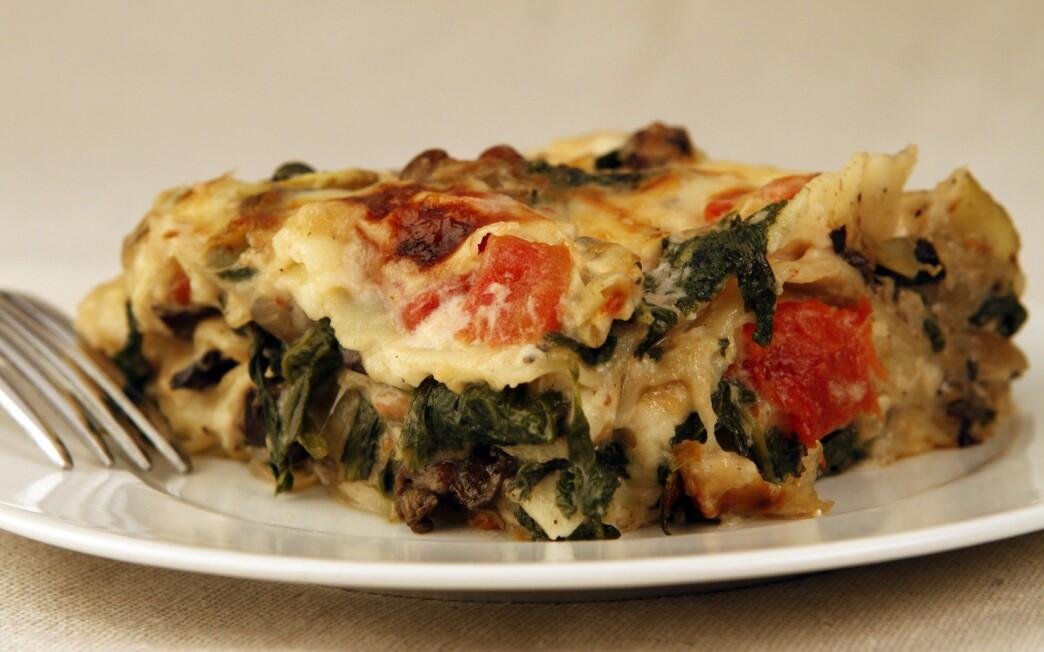 Cafe Roka's artichoke and portobello mushroom lasagna