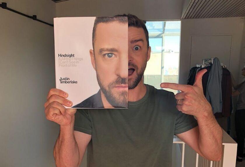 Justin Timberlake presenta su nuevo libro.