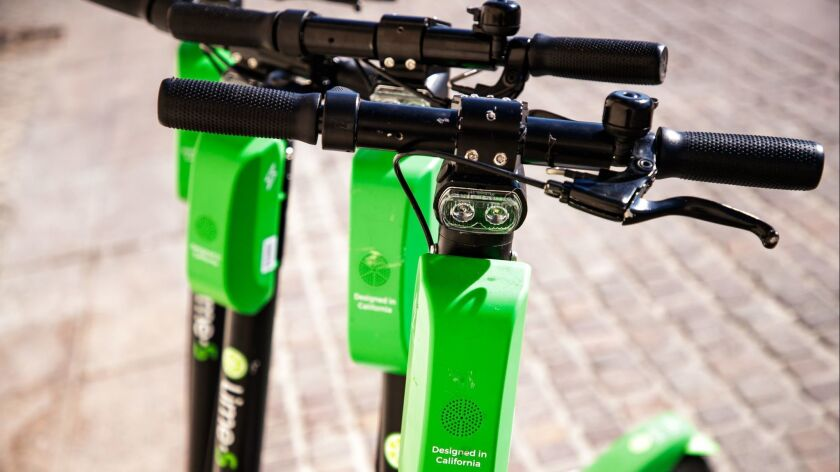 Lime has removed some of its electric scooters from California streets because of a battery defect in early models that can cause fires.