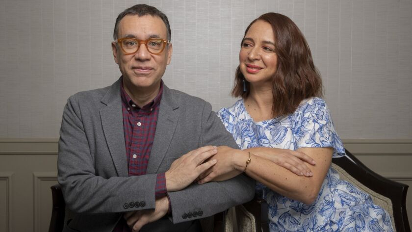 """Comic actors and longtime collaborators Fred Armisen and Maya Rudolph star in the upcoming Amazon comedy-drama """"Forever."""""""