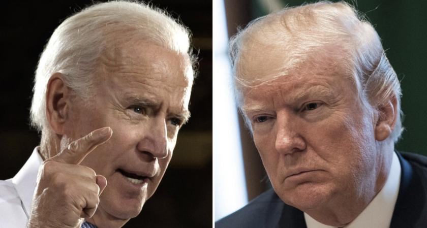 Joe Biden y Donald Trump pelean desde lejos.