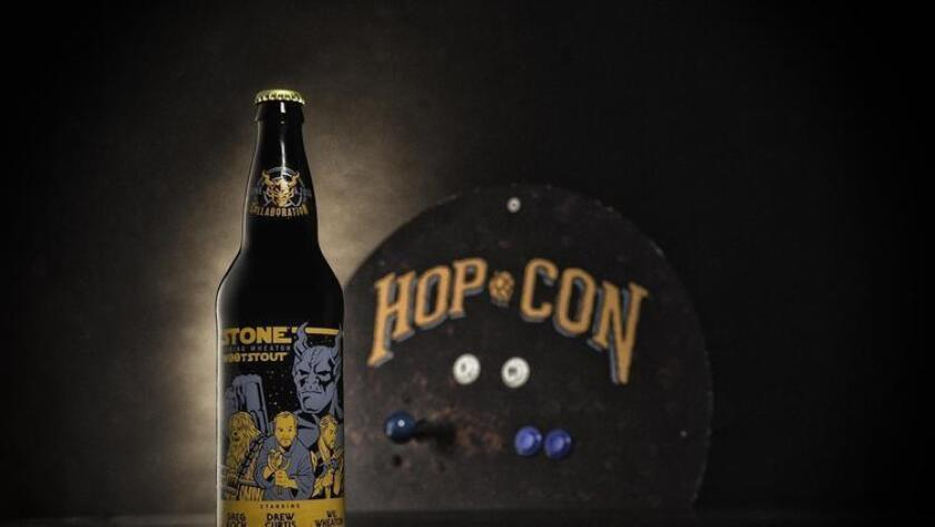 Stone's Hop Con with W00t Stout. (Stone Brewing Co.)