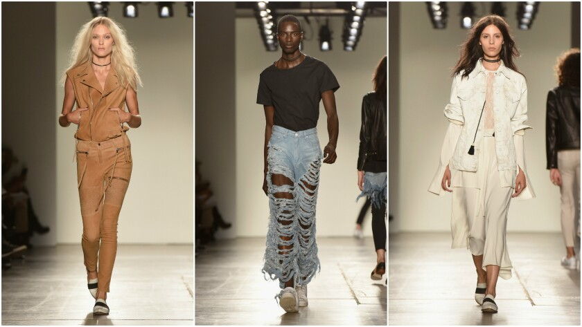 Looks from the Frankie B Hollywood spring and summer 2016 runway collection shown on Saturday during New York Fashion Week.