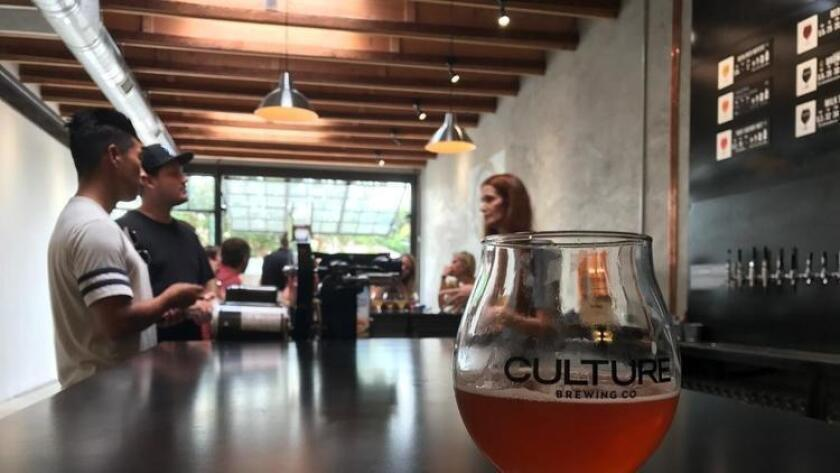 Craft beer is big across San Diego, including Encinitas, where Culture opened a tasting room this summer.