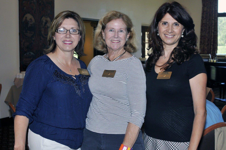Paulette Britton, past co-presidents Heather Manion and Jamie Palizban