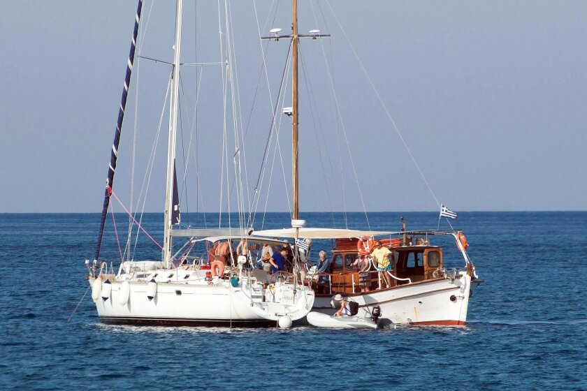 Pro-Palestinian activists set sail Friday from the port of Elounda, northeastern Crete island.