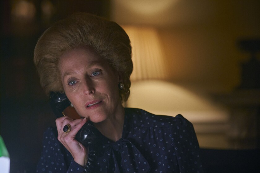 Gillian Anderson as Margaret Thatcher in 'The Crown'