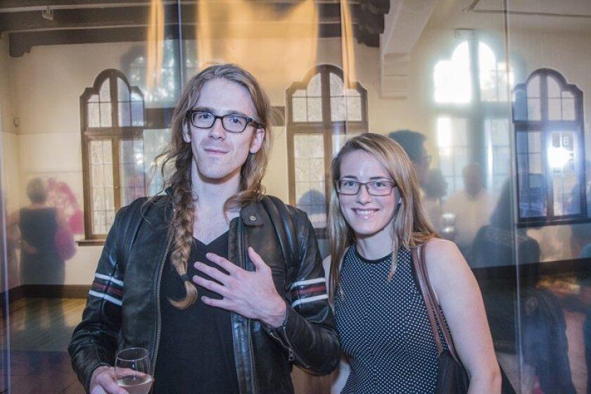 Max Nanis and Megan Blewett inside the Athenaeum Collaboration