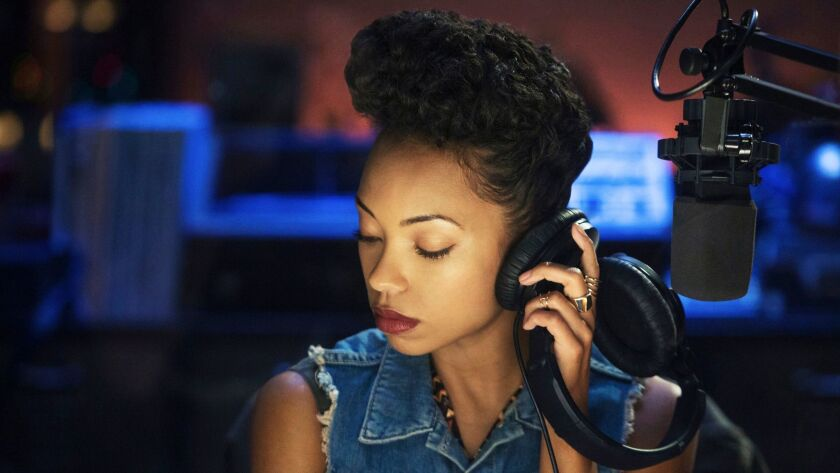 "Logan Browning plays a college radio host and ""local provocateur"" in Justin Simien's Netflix serie ""Dear White People."""