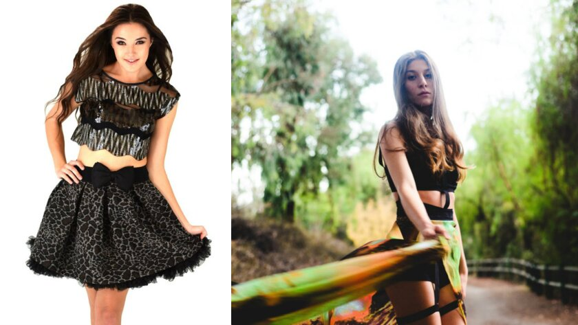 Local labels Rochelle Carino, left, and L'Enfant Terrible will be among those featured in the first round of shows for the sophomore outing of the Los Angeles Fashion Council's open-mike style Open Runway competition on June 28.