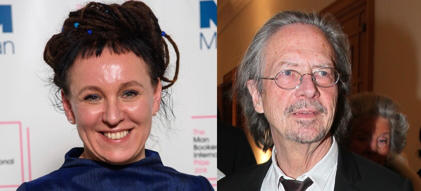 Olga Tokarczuk, a Polish author, and Peter Handke, win the Nobel Prize in Literature