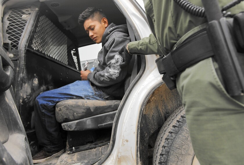 Border Patrol agents found this 17-year-old Guatemalan freezing along the Rio Grande after he fell off a raft while crossing.