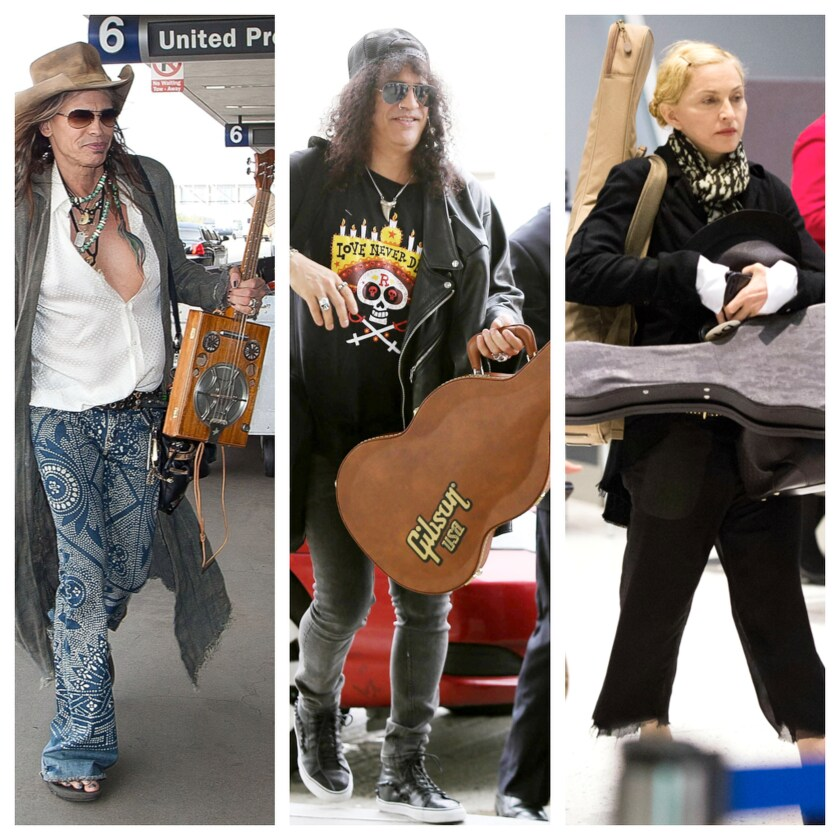 Rock stars with guitars