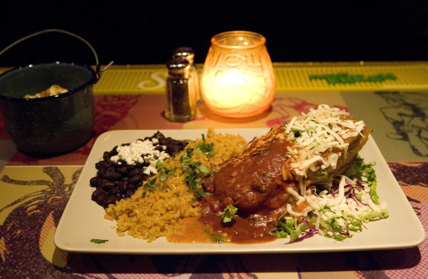 An offering at El Camino Restaurant on India St.