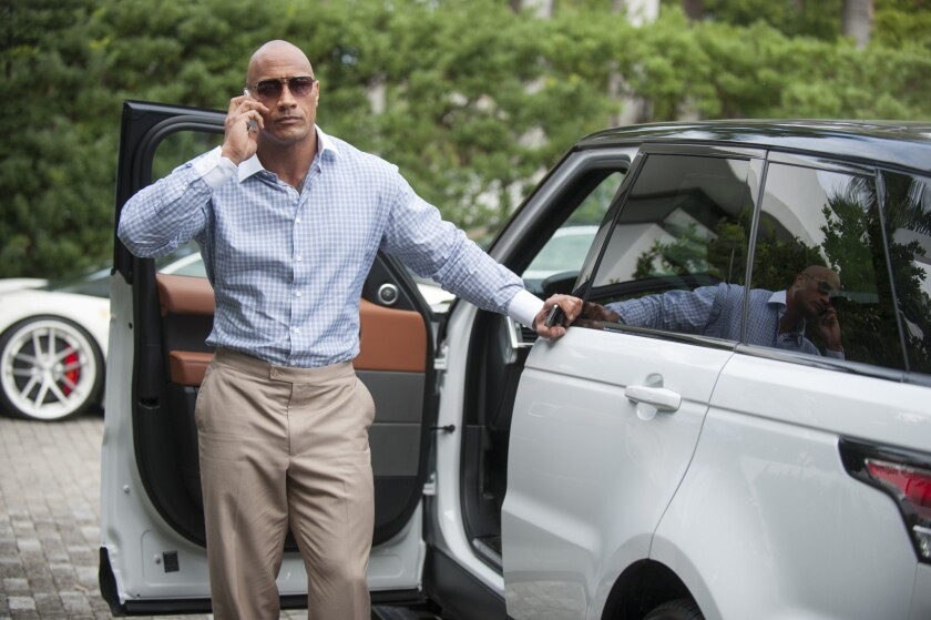 "The end of the HBO series ""Ballers,"" starring Dwayne Johnson, and other shows contributed to a dip in filming in L.A. during the fourth quarter of 2019."