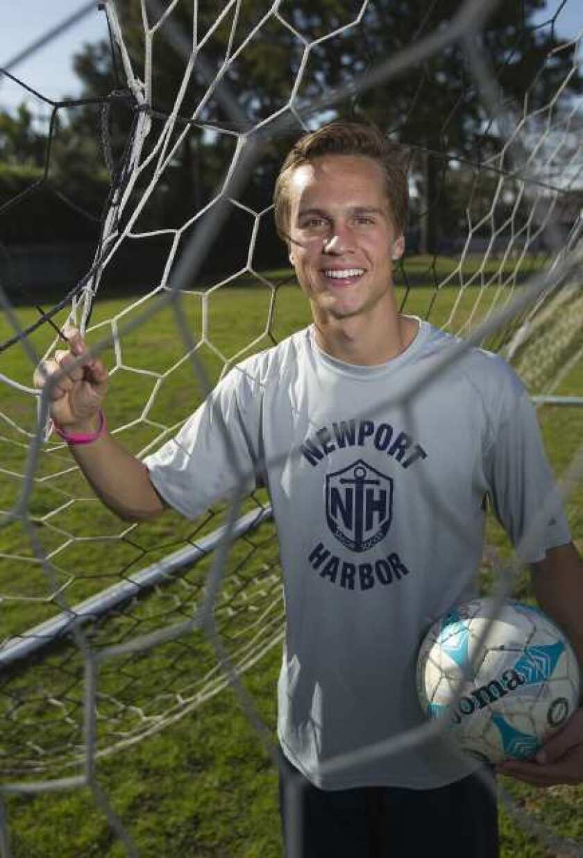 Boys' soccer: Harbor's Tamplin Sunset League Most Outstanding Offensive Player