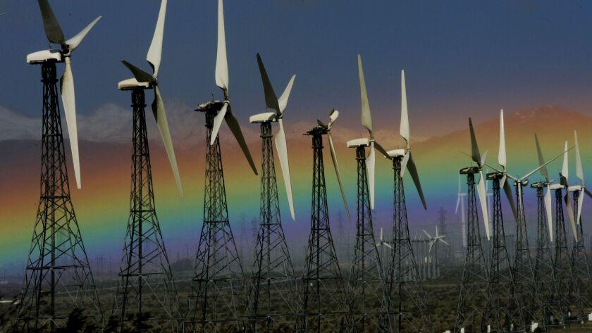 California Rainfall wind turbines