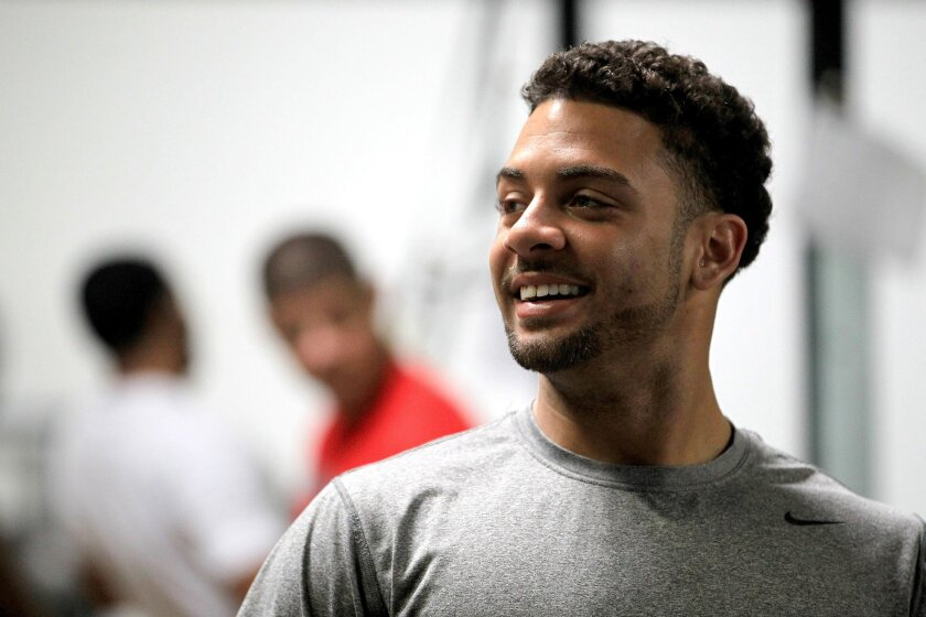 Former San Diego prep star RB Dillon Baxter, an All-American who attended USC and later San Diego State, is training to salvage his derailed football career at Prolific Athletes in Carlsbad.