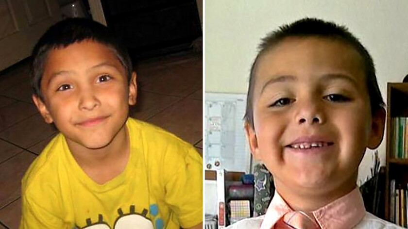 Gabriel Fernandez, left, and Anthony Avalos, right.