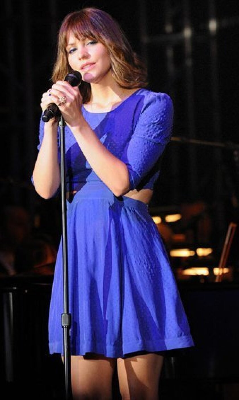 Singer/actress Katharine McPhee is the featured performer at the 18th annual Symphony at Salk gala. Photo by Jon Clark