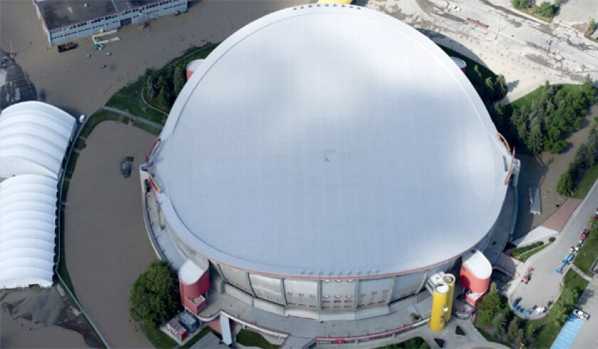 Calgary Flames Arena Heavily Damaged By Floods Los Angeles Times