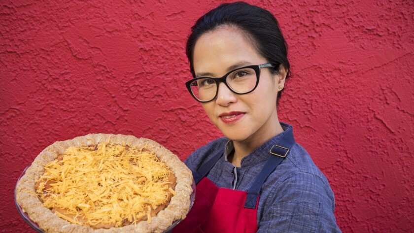 LOS ANGELES, CA - FEBRUARY 01 , 2018 - Filipino-American pastry chef Isa Fabro and her Royal Bibingk