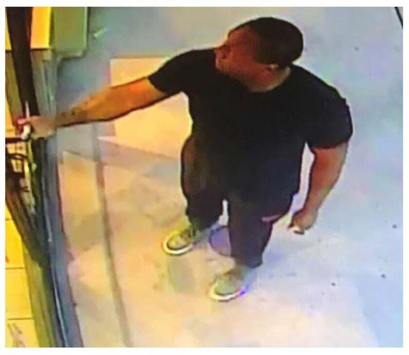 Surveillance image of suspect in groping incident