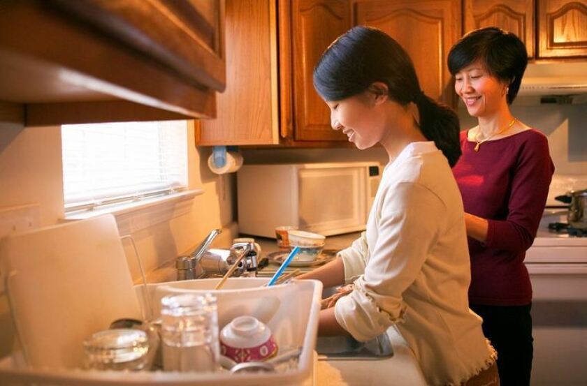 Hand-washing dishes may help prevent allergies in young children, a study finds.