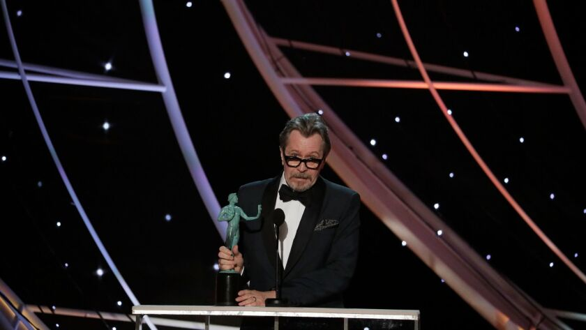 "LOS ANGELES, CA - January 21, 2018- Gary Oldman, ""Darkest Hour"" Outstanding Performance by an Actor"