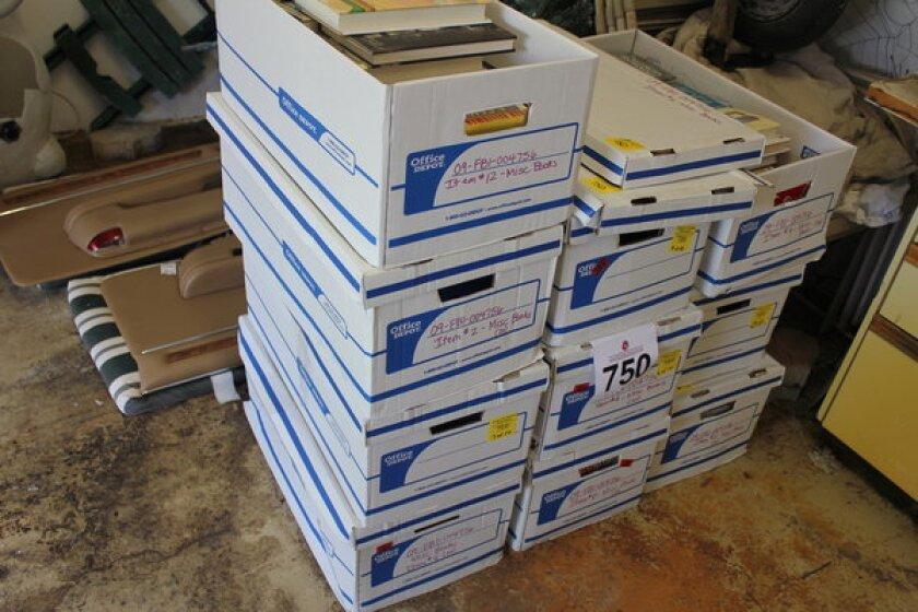 Boxes of Bernard Madoff's books