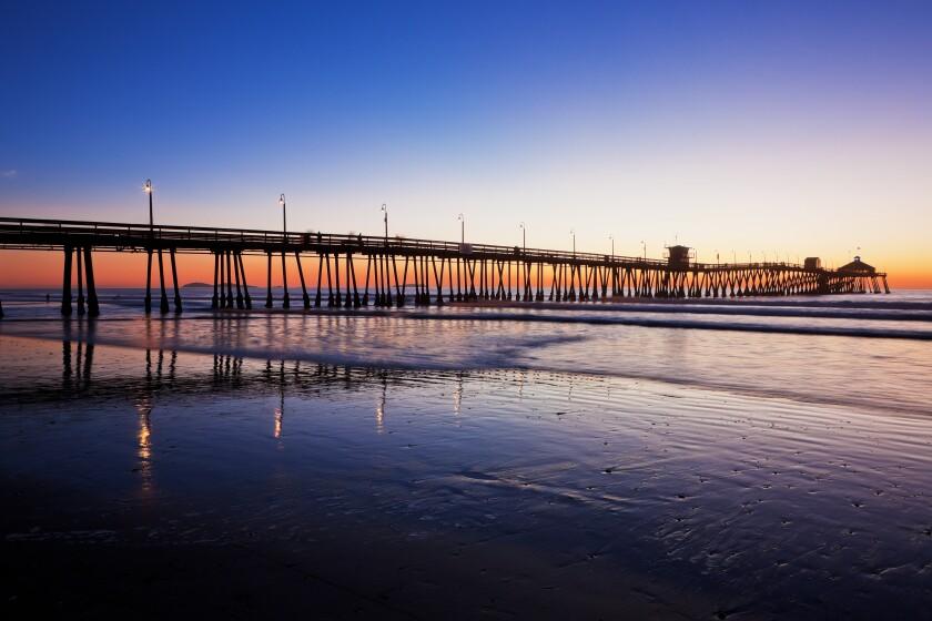 Sunset on the I.B. pier.